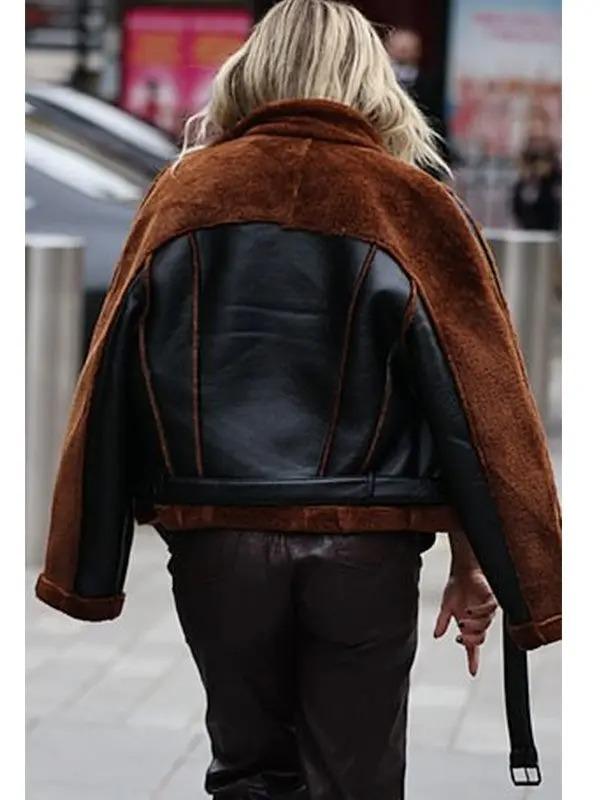 Ashley Roberts Christmas Shearling Jacket