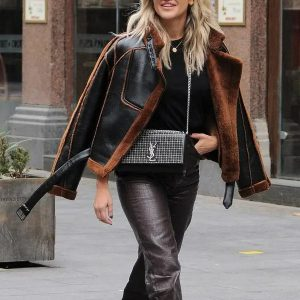 Ashley Roberts Christmas Shearling Jacket