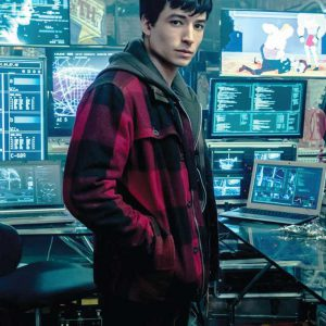 Ezra Miller Barry Allen Red Jacket From Movie Justice League