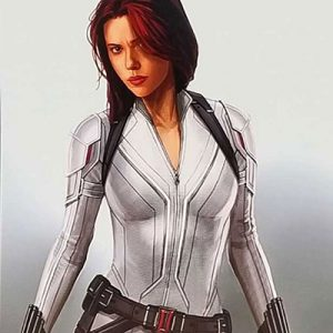 Black Widow Scarlett Johansson White Jacket