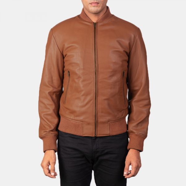 Shane Brown Bomber Leather Jacket