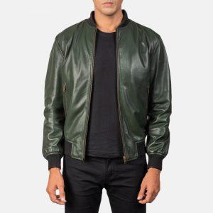 Shane Green Bomber Leather Jacket