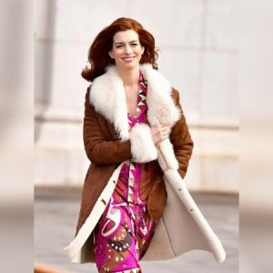 Modern Love Anne Hathaway Brown Fur Coat