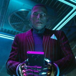 Cyberpunk 2077 Mr. Goldhand Striped Blazer