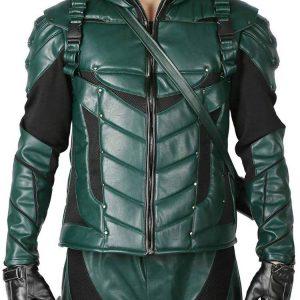 Stephen Amell Green Arrow Seasons 5 Jacket