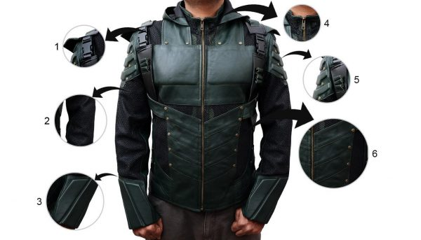 Stephen Amell Green Arrow Seasons 5 Jacket