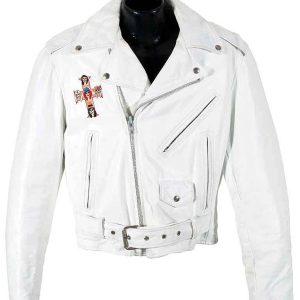 White Guns N Roses Paradise City Leather Jacket